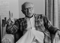 Description=21 Feb 1981, San Francisco, California, USA --- Milton Friedman --- Image by © Roger Ressmeyer/CORBIS